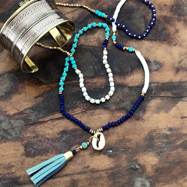Indigo Boho Necklace