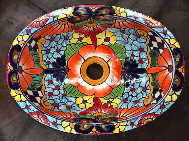Hand painted Mexican Basin 2: Small