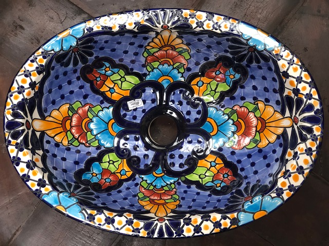 Small Talavera Hand Basin 3