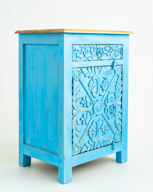 Mahika Bedside Table Blue