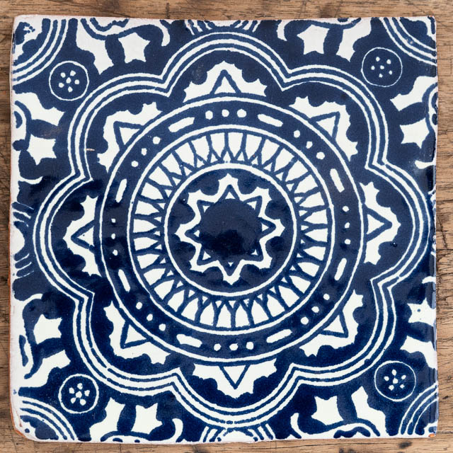Large Rosario Blue Tile