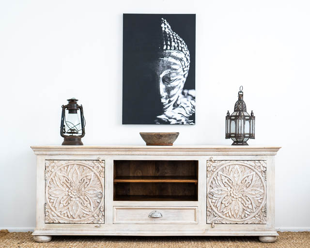 Mandala TV Cabinet or Low Sideboard BACK ORDER