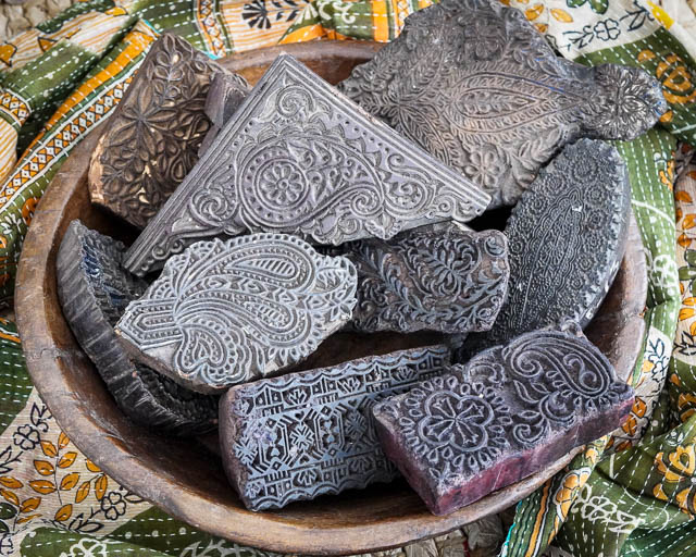 Old Indian Block Printing Blocks