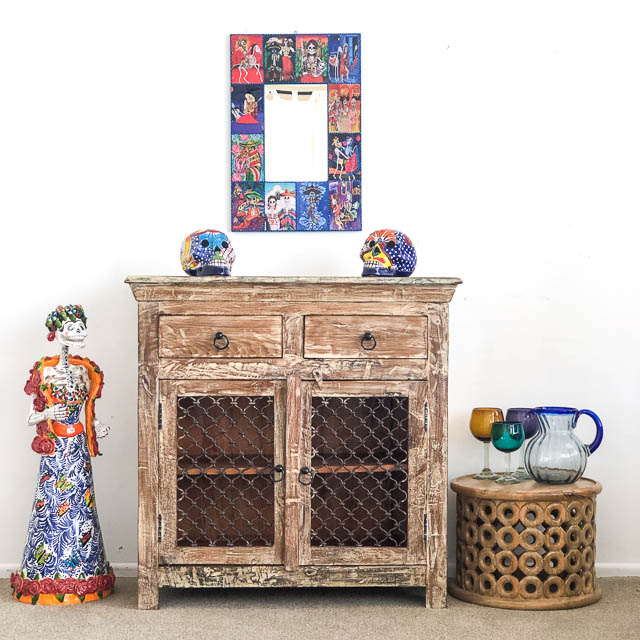 Jali Sideboard with Drawers BACK ORDER