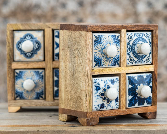 Boho Chic 4 Ceramic Spice Drawers