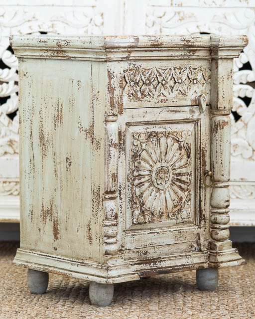 Sage Boho Bedside Table