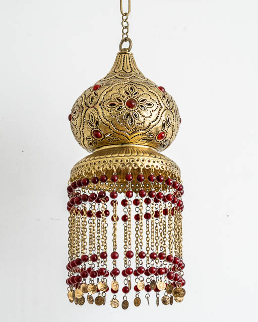 Red Gypsy Brass Lantern