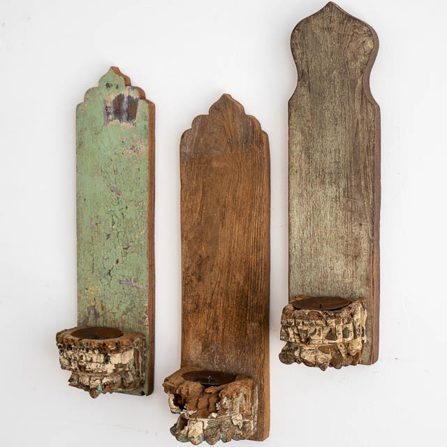 Old Timber Wall Candles