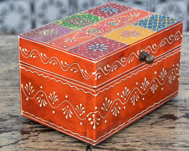 Gypsy Jewellery Box Orange