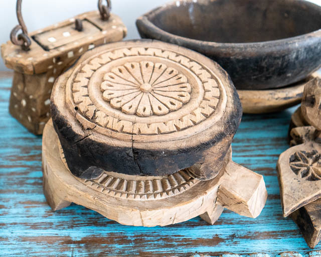 Chapati Board Handcarved Vintage