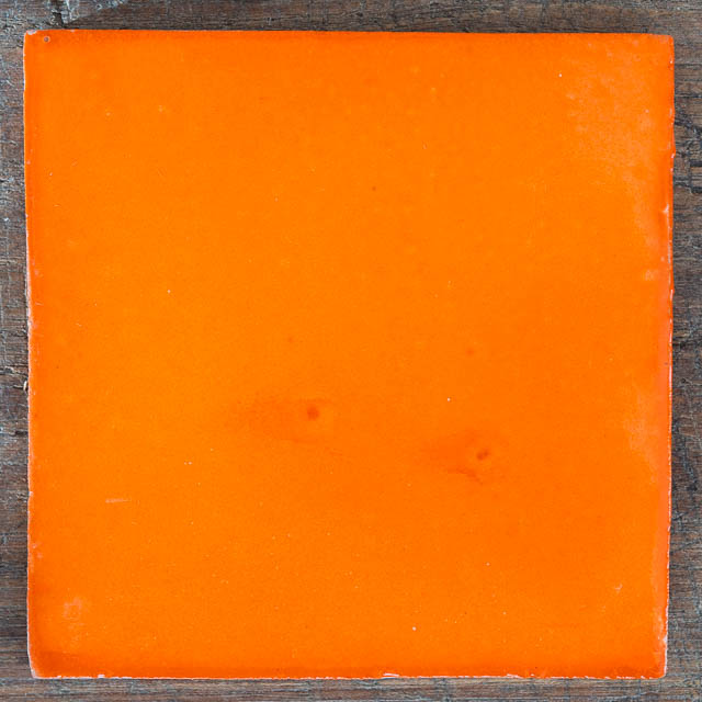 Solid Bright Orange Talavera Tile
