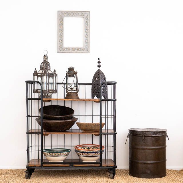 Industrial Teak Rack