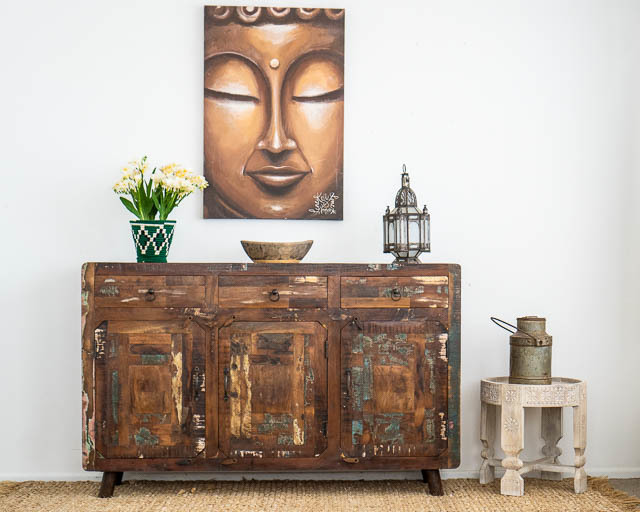 Retro Rustic Sideboard Large