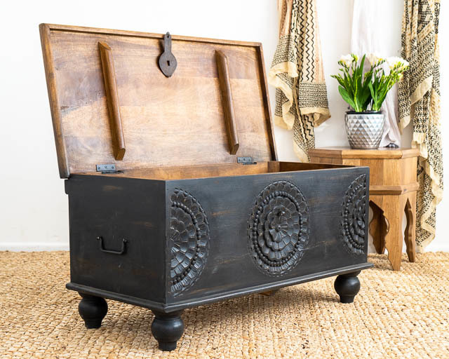 Adhira Blanket Box Charcoal