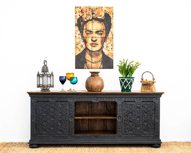 Aabha TV Cabinet or Sideboard Black