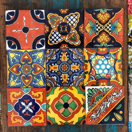 9 Pack Mexican Tiles Hermoso Pack