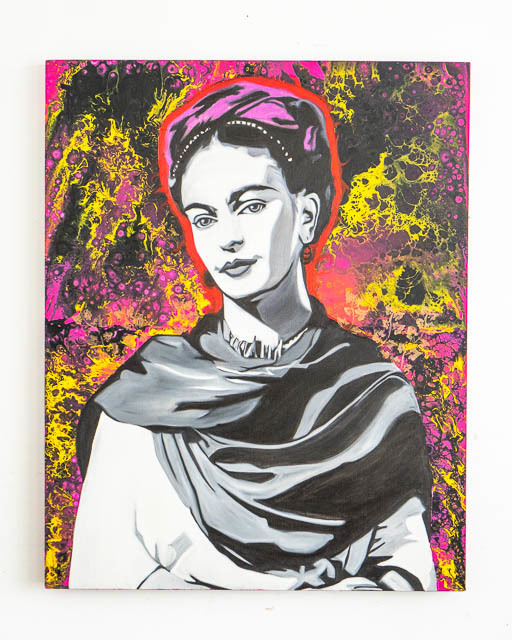 Frida Kahlo Original Painting on Canvas