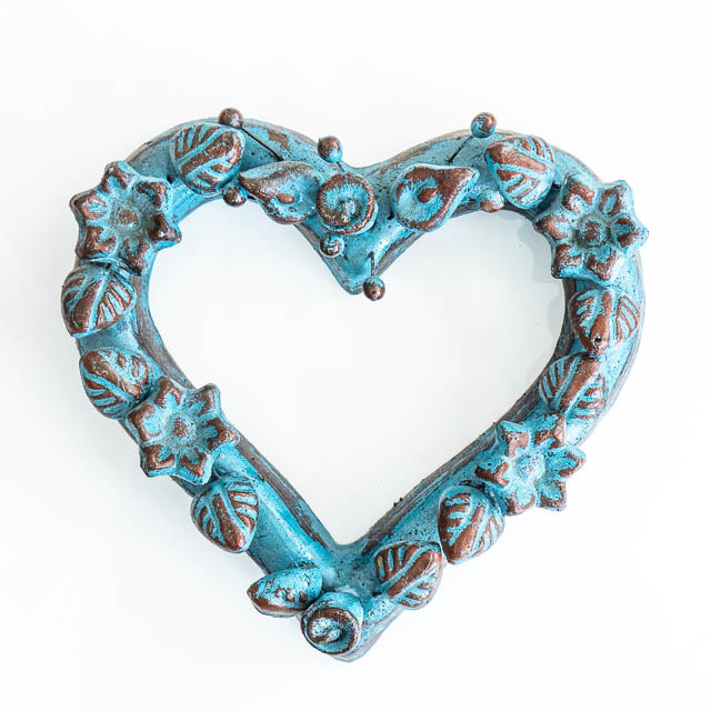 Mexican Wall Heart Blue