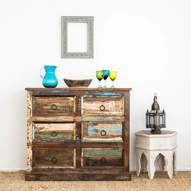 Boho Rustic 6 Drawers C