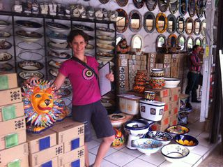 Shopping for tiles and hand basins in Mexico