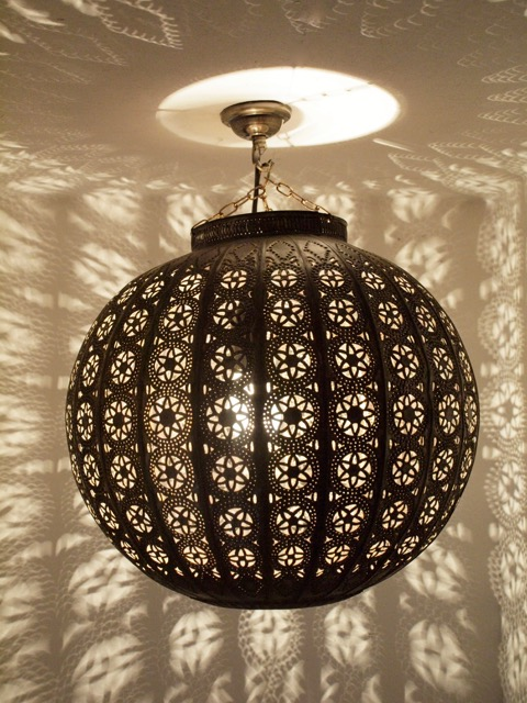 Brown Warda Lantern Medium Furniture Lighting Decor